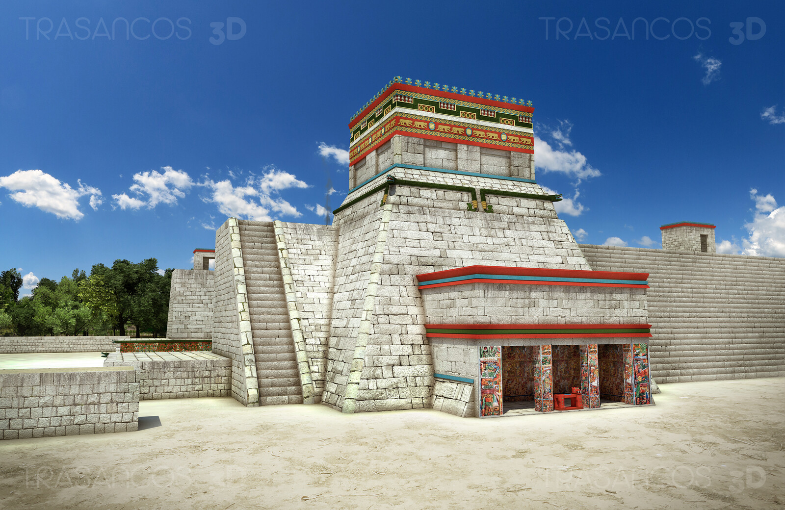 Temple of Jaguar over the Ball Game court in Chichen Itza. Modeled in collaboration with: - Alejandro Soriano