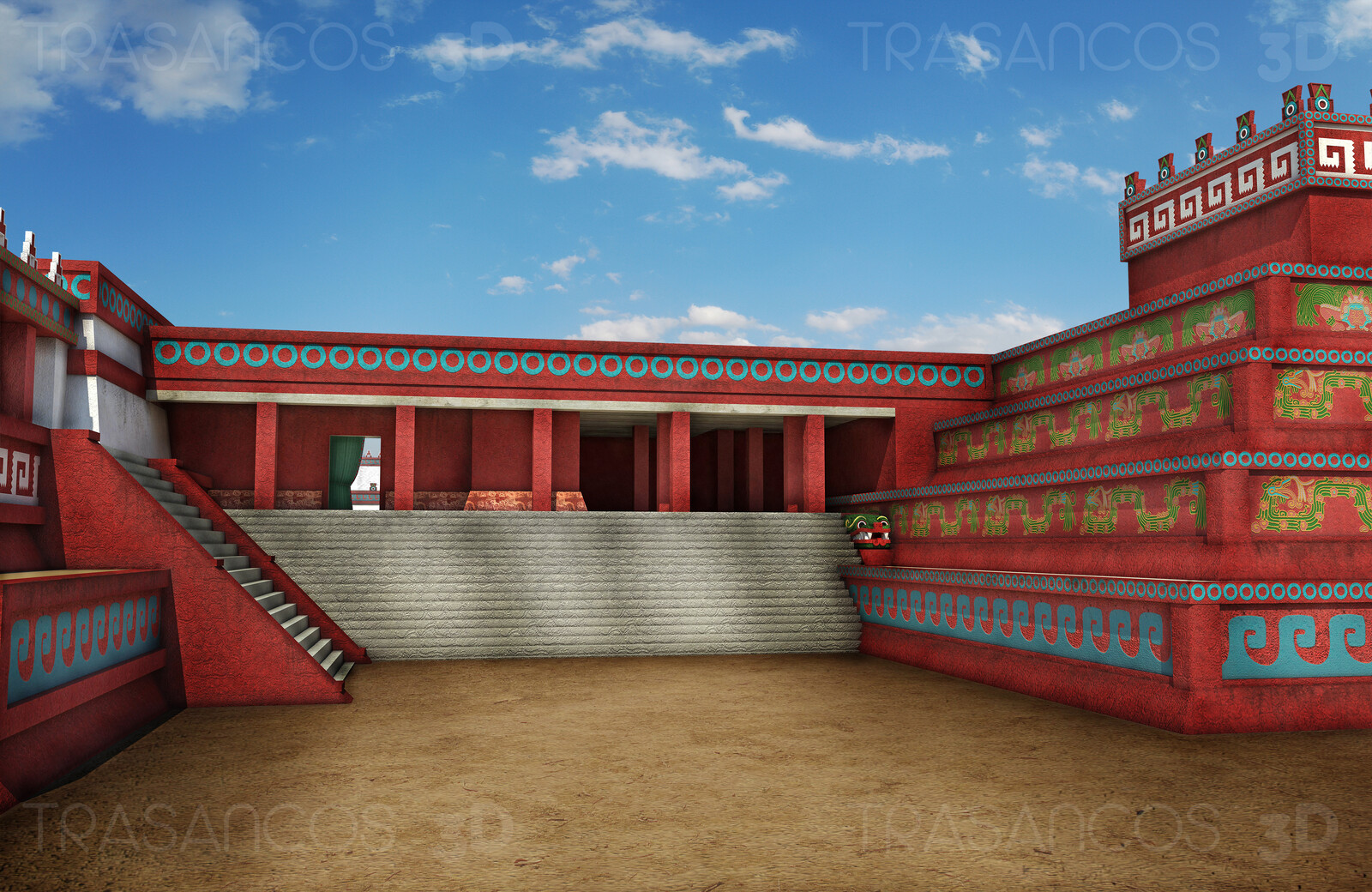 Palace of Jaguars in Tehotihuacan. Modeled in collaboration with: - Diego Blanco