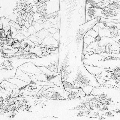Detonya kan rift landscape sketch