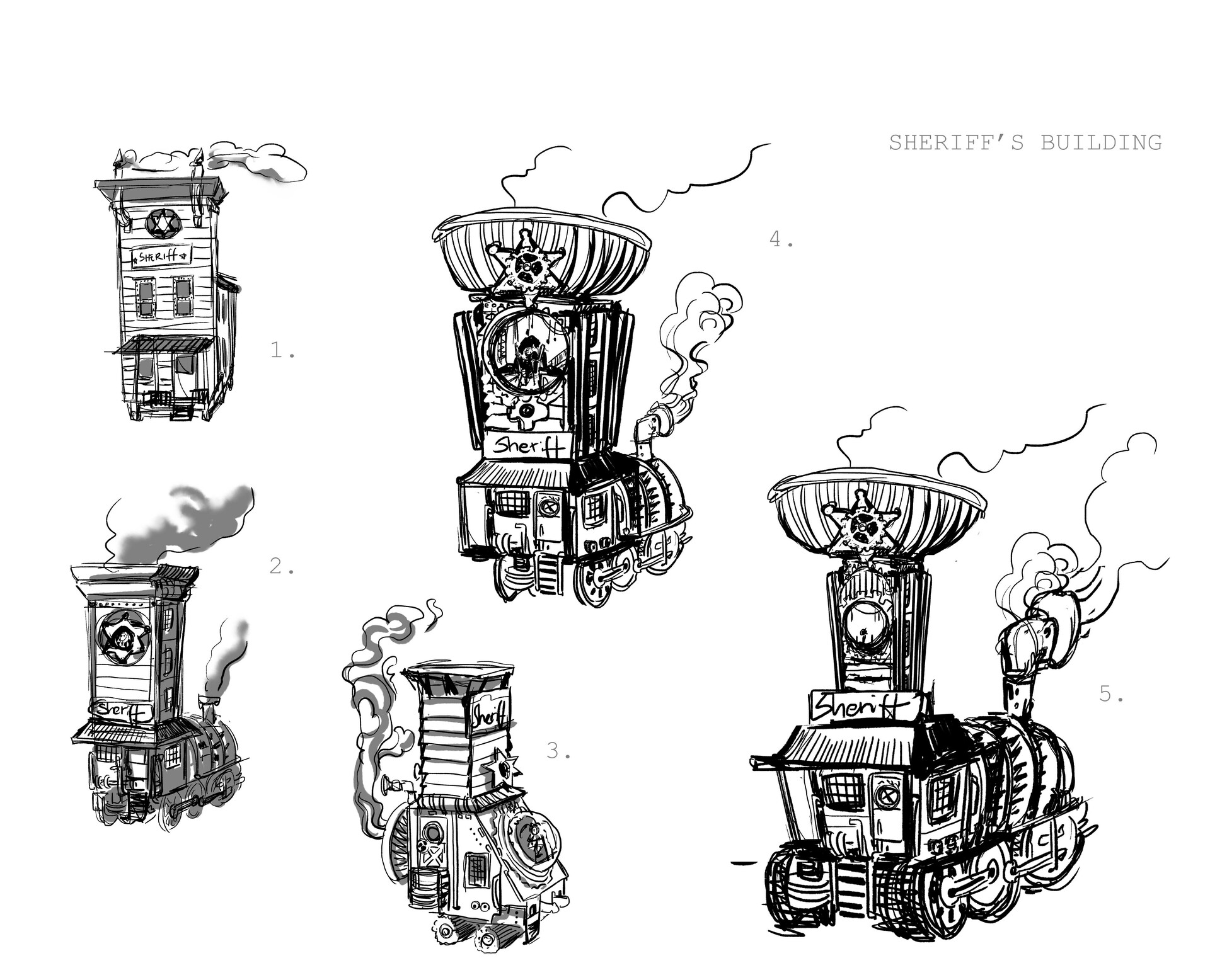 My favourites among the initial sketches