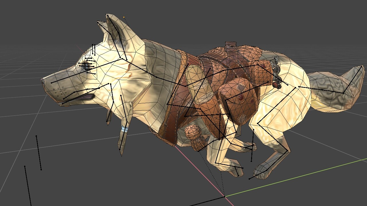 Low-poly + rig