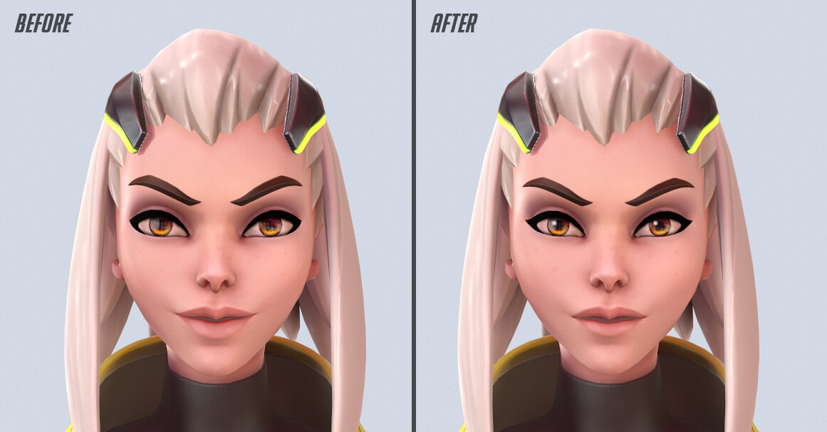 The face before and after a feedback session.