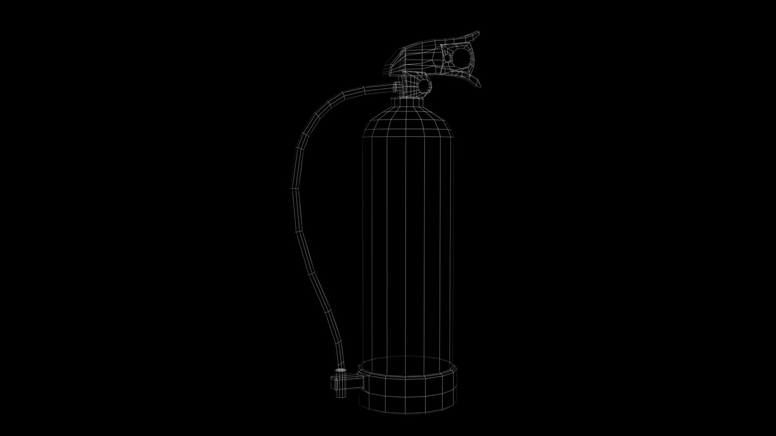 Fire Extinguisher 1 Wireframe