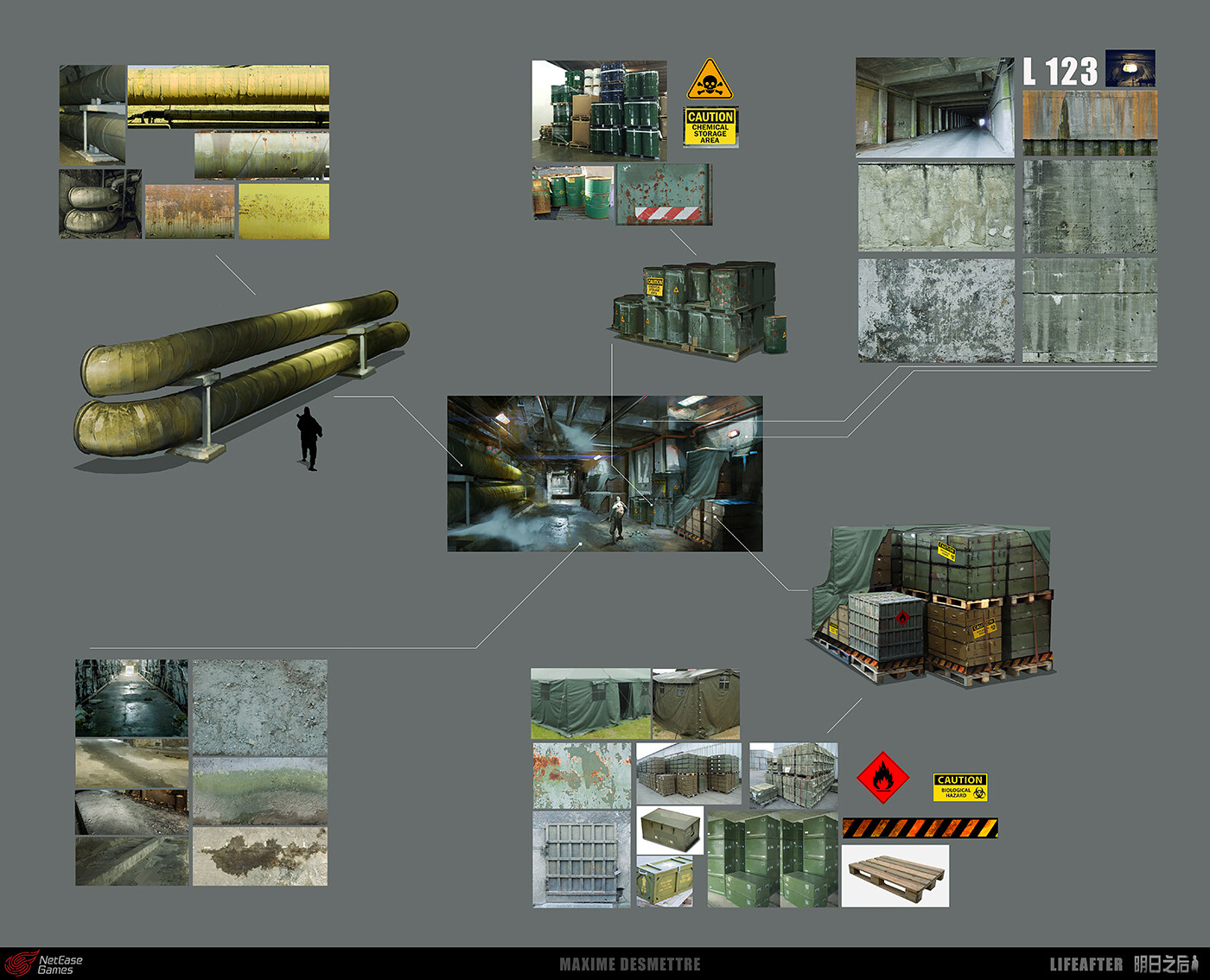 Maxime desmettre lifeafter lab corridor textures maximedesmettre