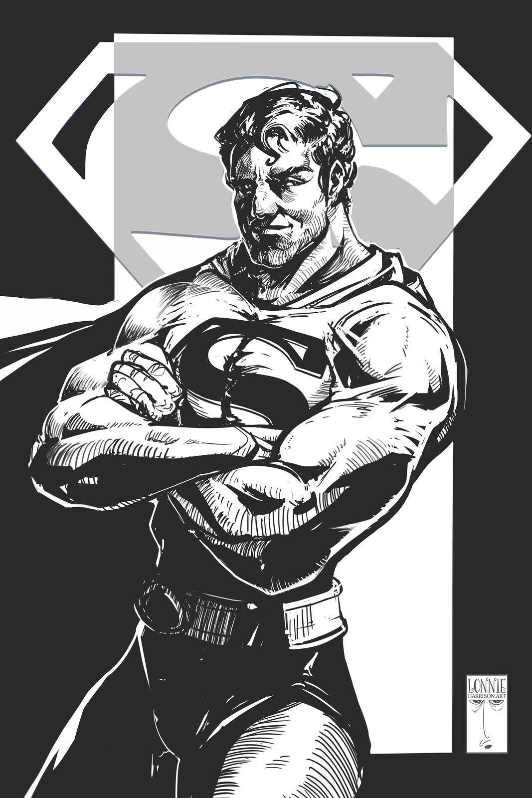 superman linework