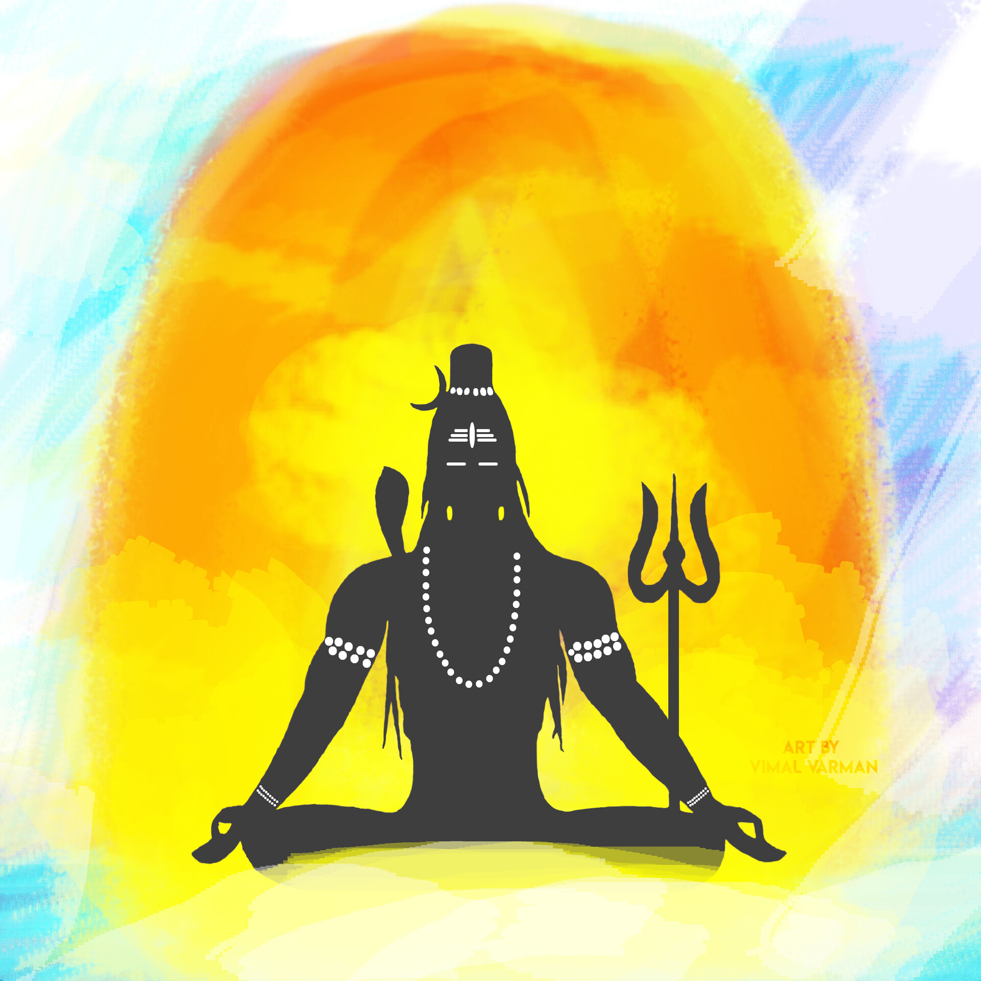 ArtStation - Lord Shiva Paint Work - Concept Art! Behind