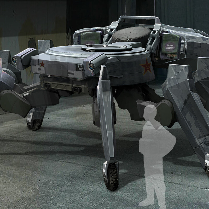 Hermit Tank : GITS reimagined concept art