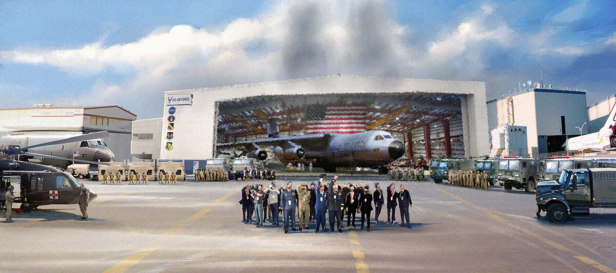 Subroto bhaumik landing hangar view for print