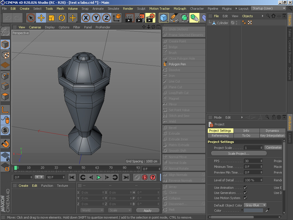 ArtStation - Cinema 4d - Full My Test Work, khaynara kioni