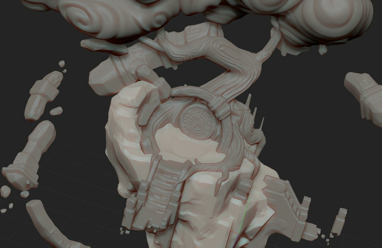 Sculpting in Zbrush,