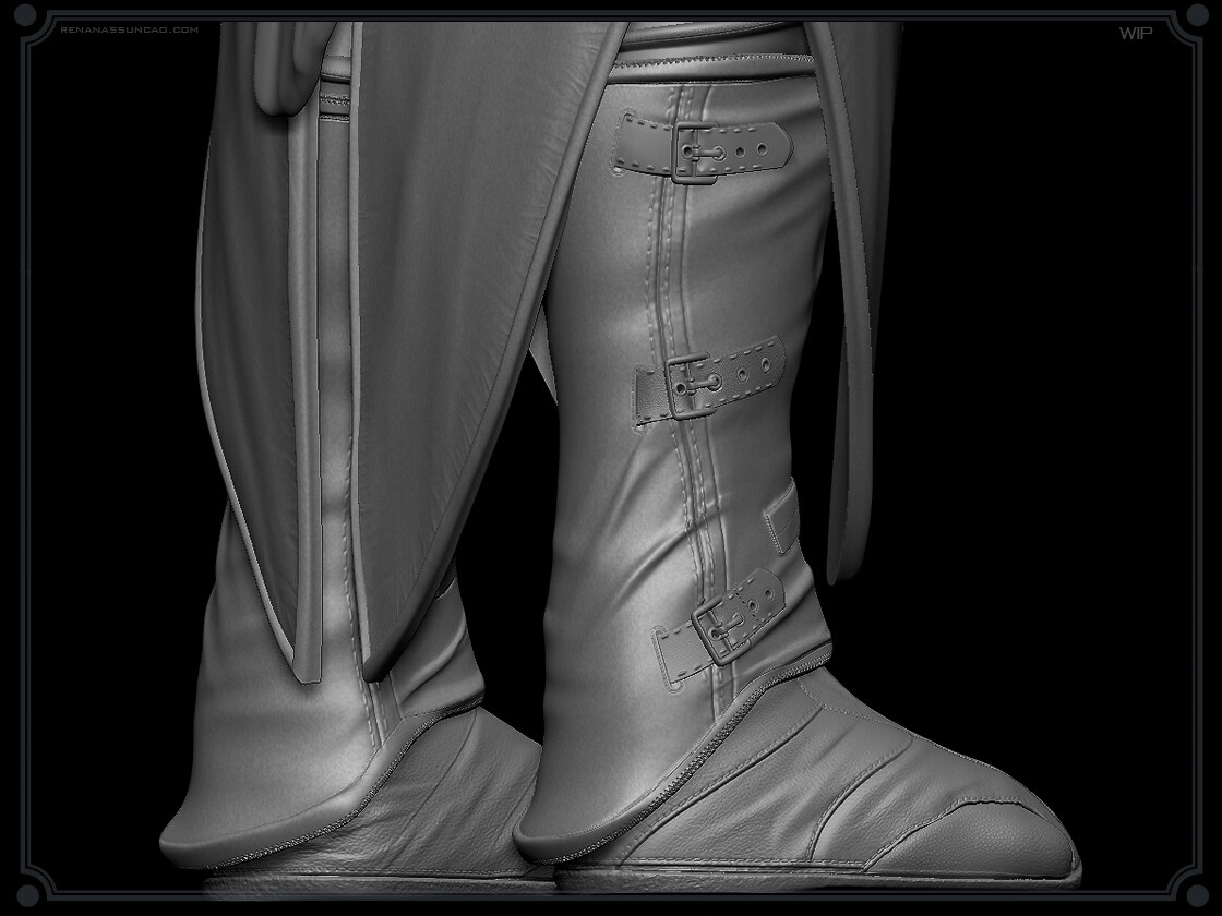 Renan assuncao zbrush medieval boots collectible statue print assassins creed renan assuncao 8