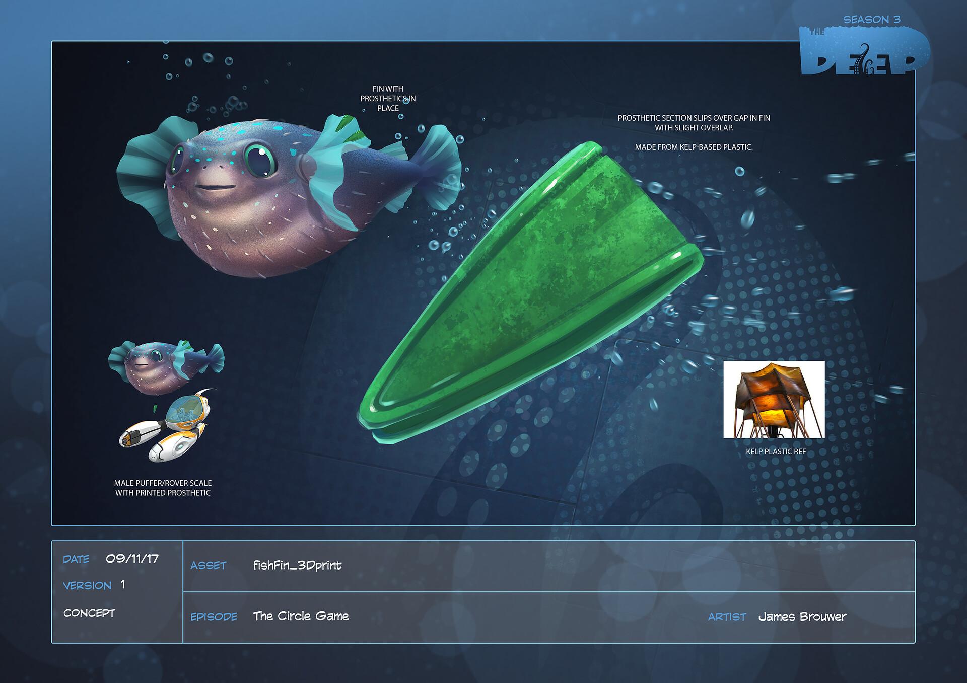James brouwer fishfin 3dprint design v001