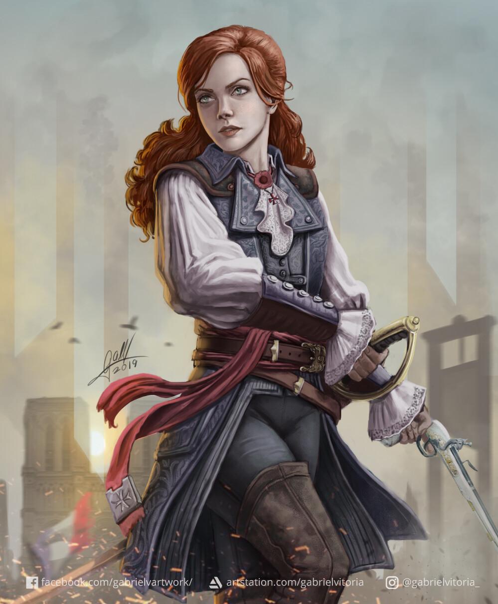 Gabriel Vitoria Elise De La Serre Assassin S Creed Unity
