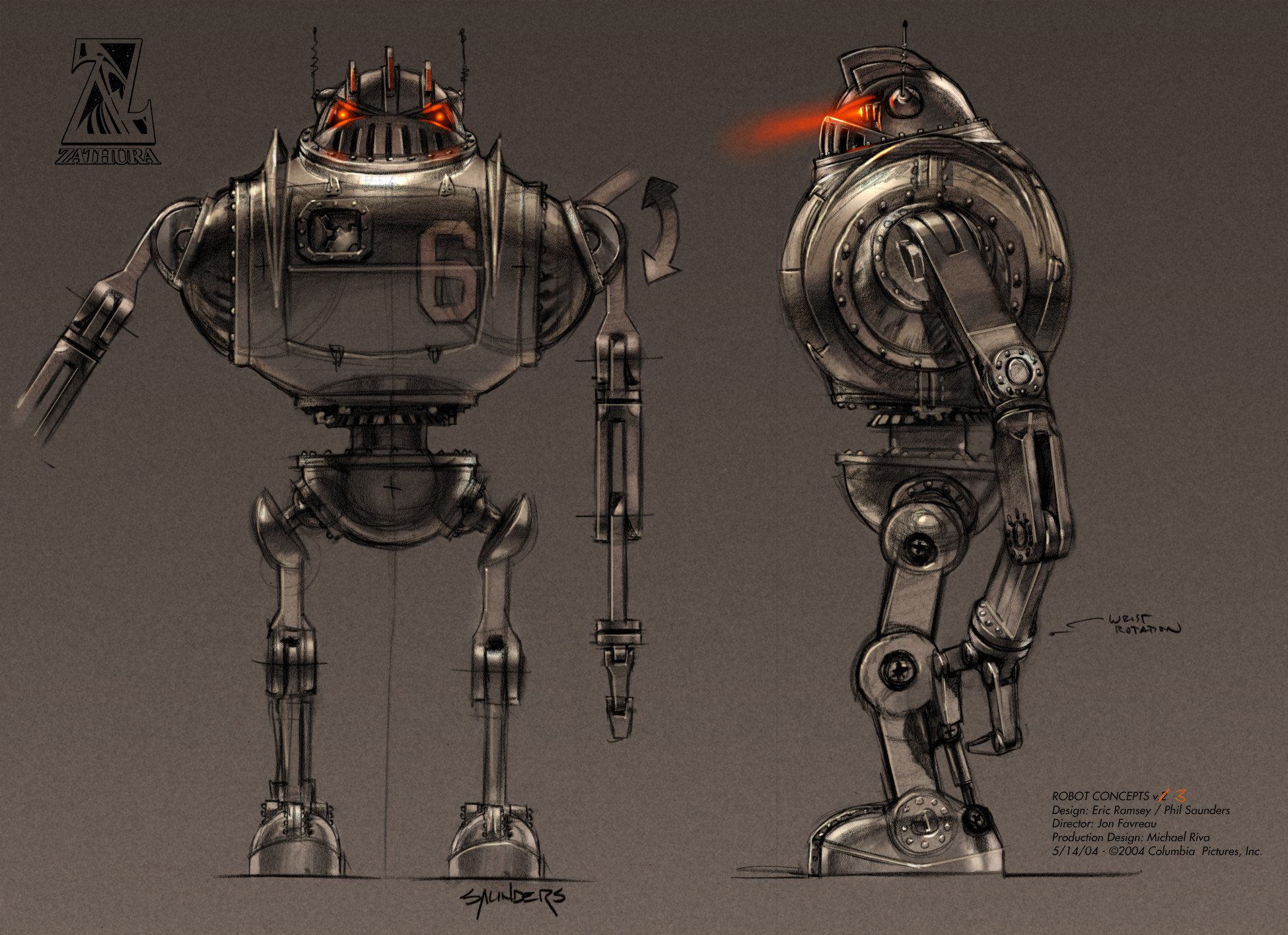 The final robot design.