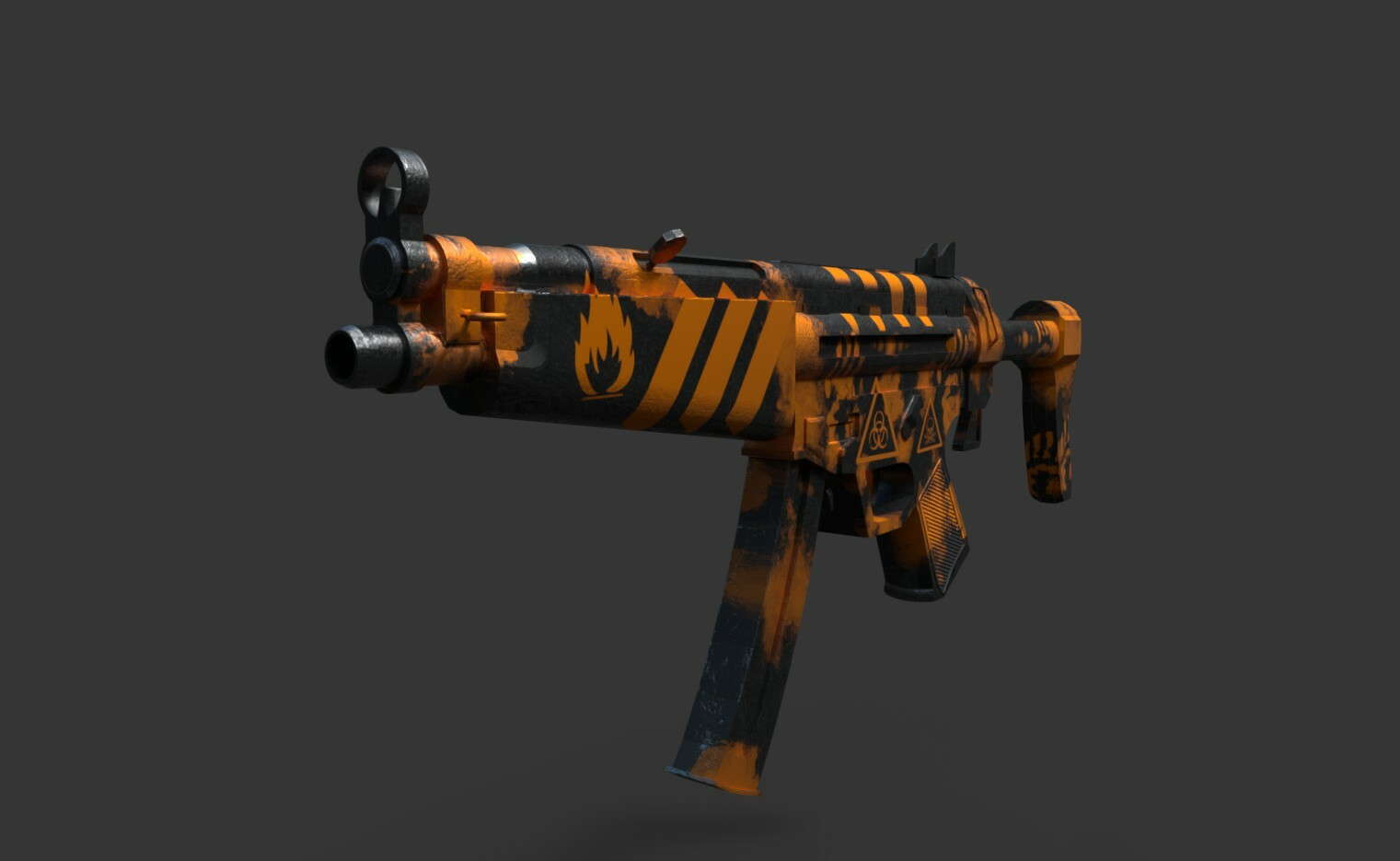 Quick Texturing of MP5 for a Friend.