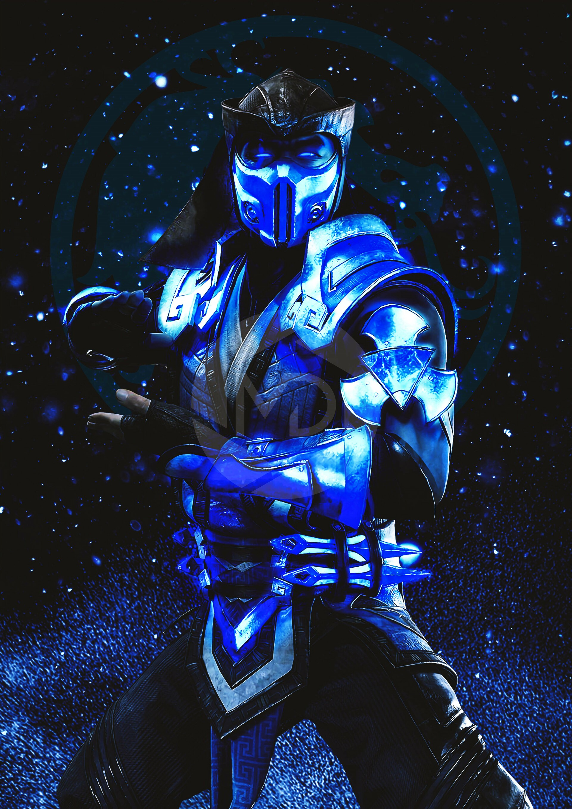 Mdesign Digital Artwork Mortal Kombat 11 Sub Zero