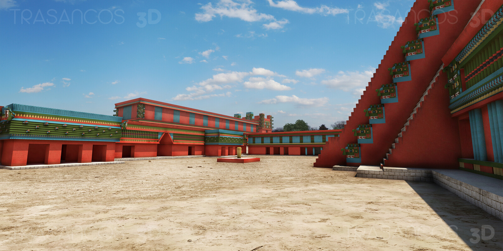 View of the Birds Court in Uxmal. Modeled in collaboration with: - Andrés Armesto - Diego Blanco