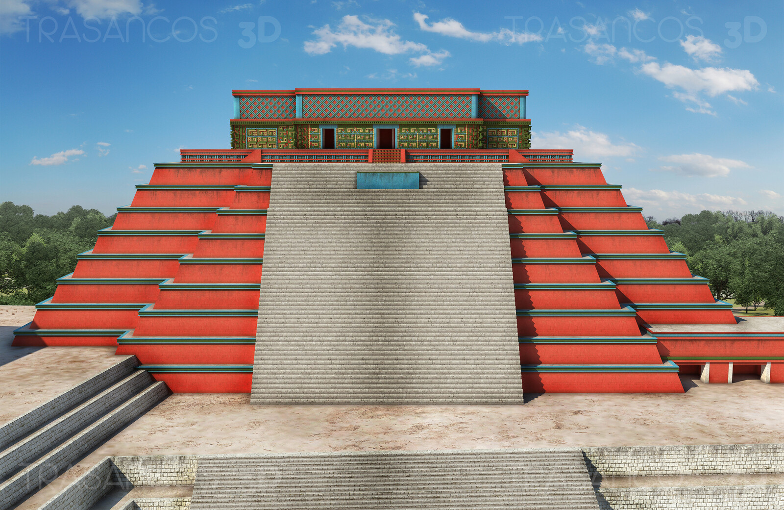 Reconstruction of the Great Pyramid of Uxmal. Modeled in collaboration with: - Carlos Paz