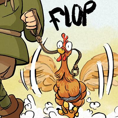 Edouard duhem garcon et la poule