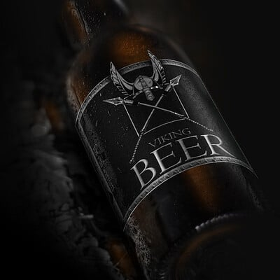 Egehan dogan beer bottle close view mockup