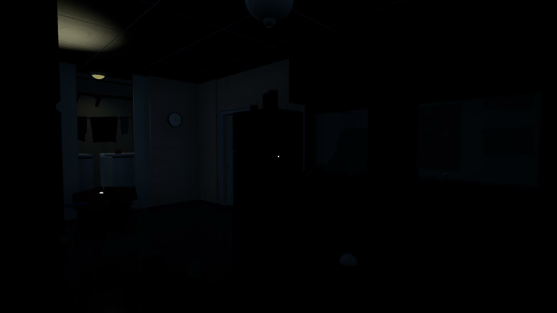 The only light present in this first area is coming from the flashlight which is an important pick up