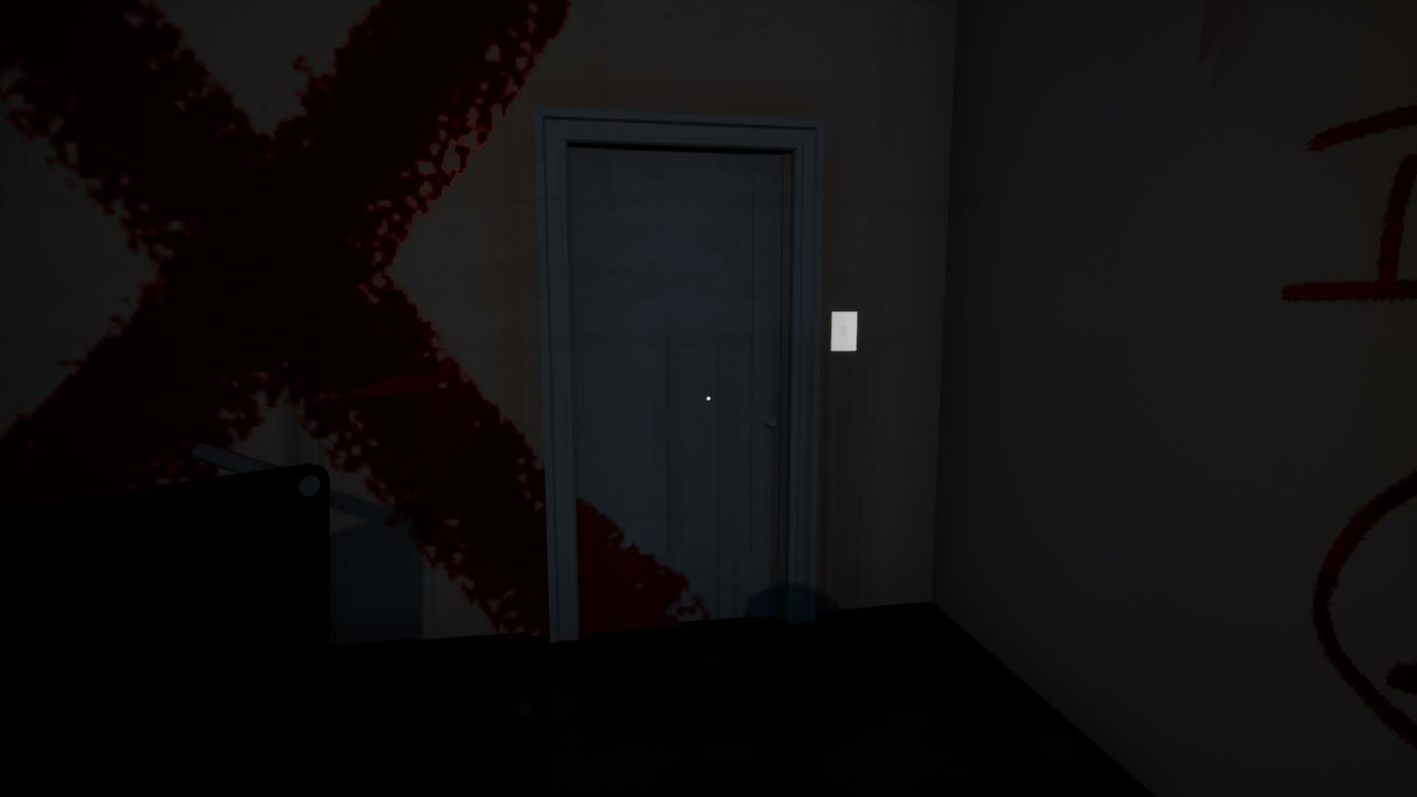 when the player leaves the hallway, the door slams behind them and locks
