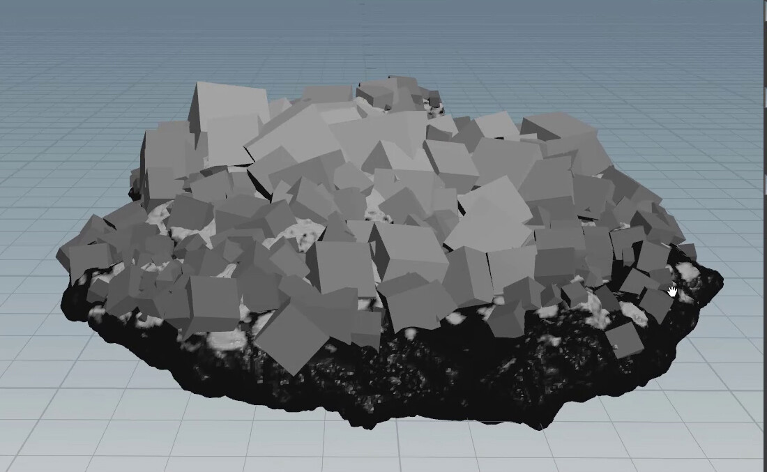 Low Resolution stage of crystals (before beveling)