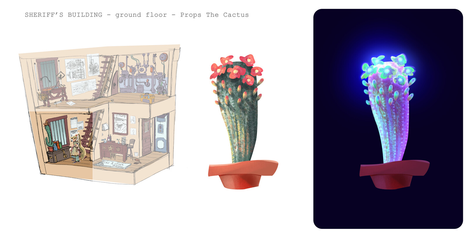 [RESTLESS] - Sheriff's building - Ground floor - PROPS - Cactus