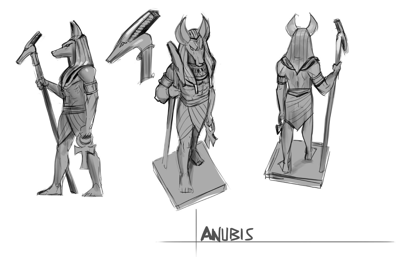 anubis figure concept