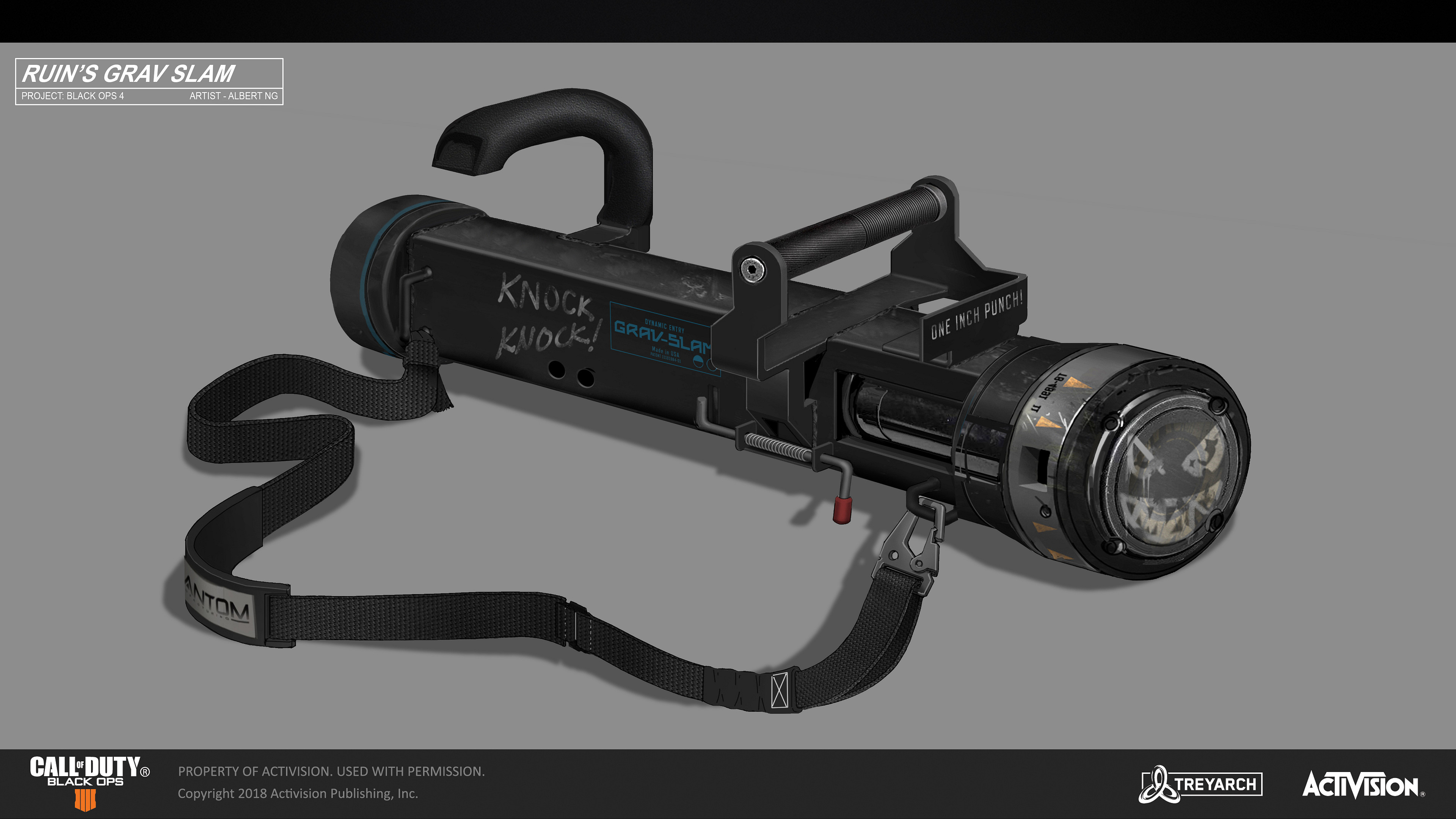 Call of Duty - Black Ops 4 - Specialist Weapon - Ruin's Gravity Slam Concept.  Concept Art - Albert Ng