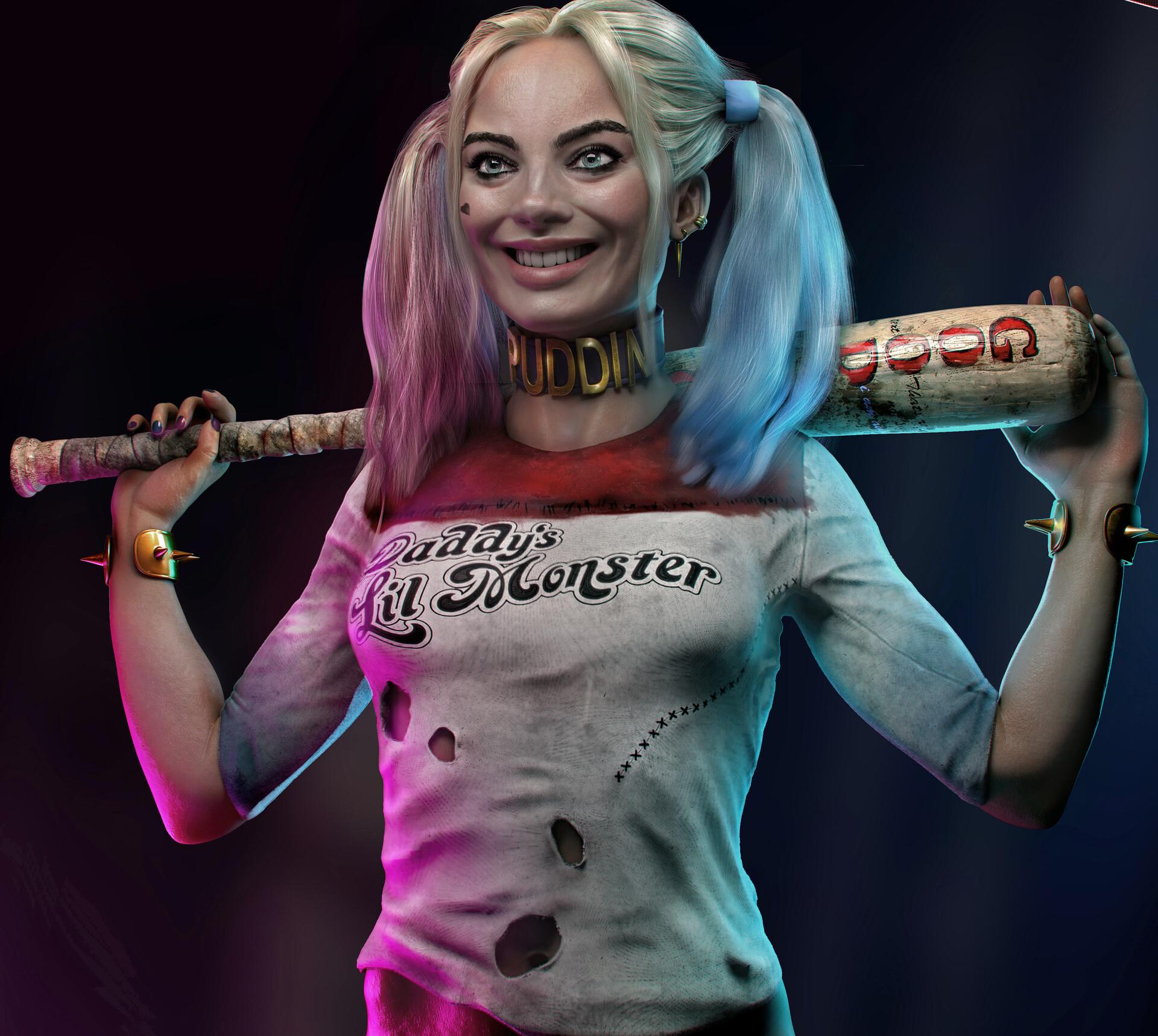 3D Harley Quinn Porn artstation - harley quinn 3d art, ivailo ivanov