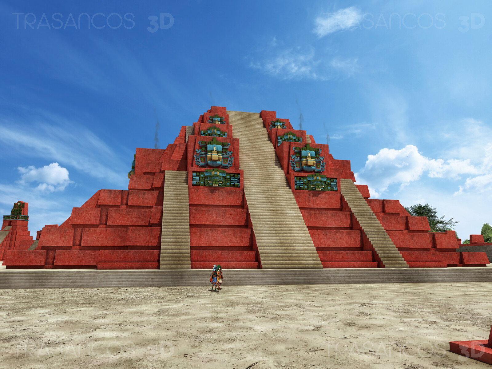 Pyramid of 'Mundo Perdido' (Lost World) in Tikal. Modeled in collaboration with: - Diego Blanco