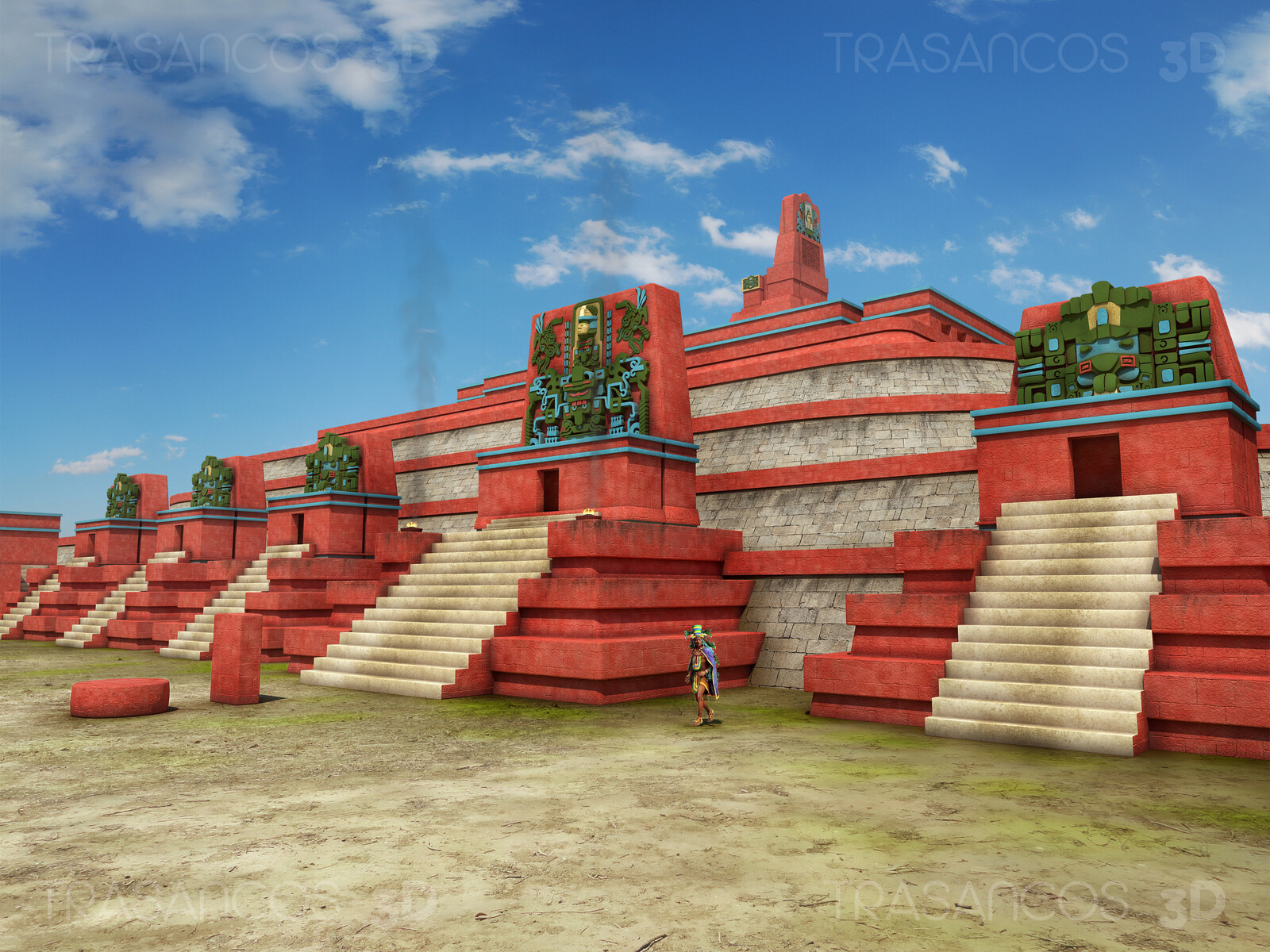 The Square of the Seven Temples in Tikal. Modeled in collaboration with: - Diego Blanco