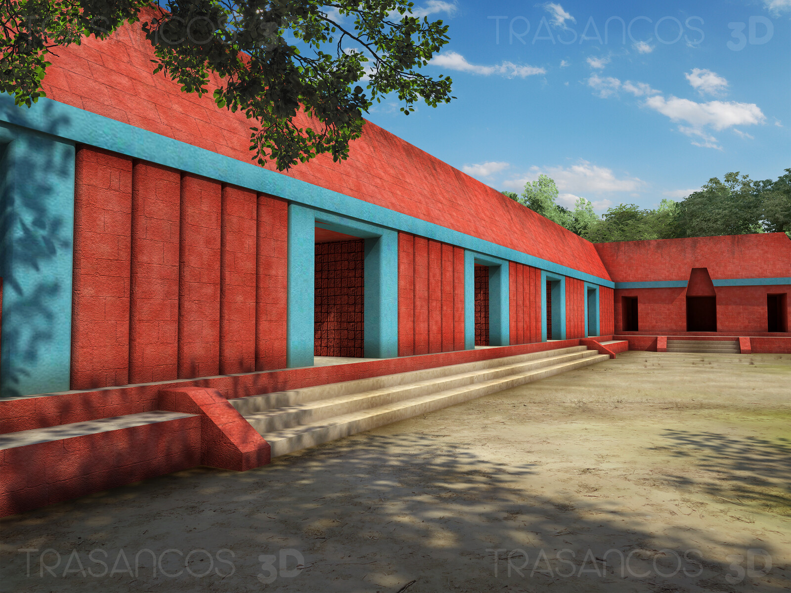 The Palace of 'Las Acanaladuras' (The Grooves) in Tikal. Modeled in collaboration with: - Carlos Paz
