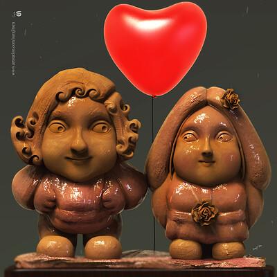 Surajit sen lovemarriage digital sculpture surajitsen july201