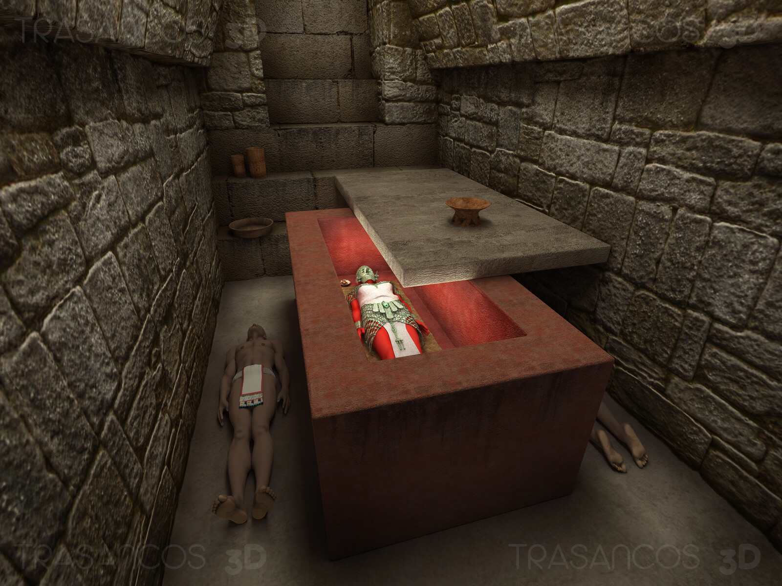 Reconstruction of the tomb of The Red Queen of Palenque.
