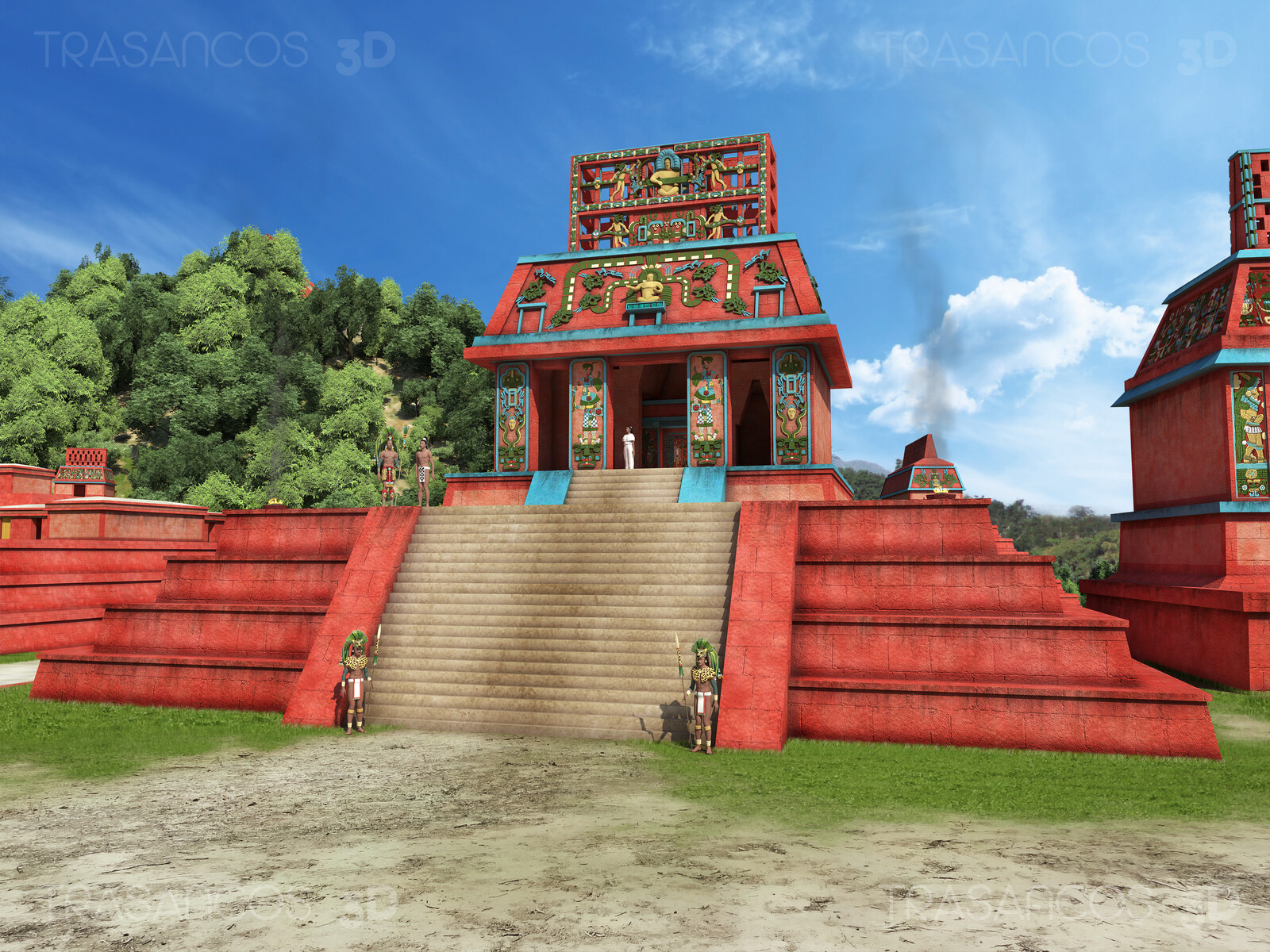 View of the Temple of the Sun reconstruction. Modeled in collaboration with: - Alejandro Soriano