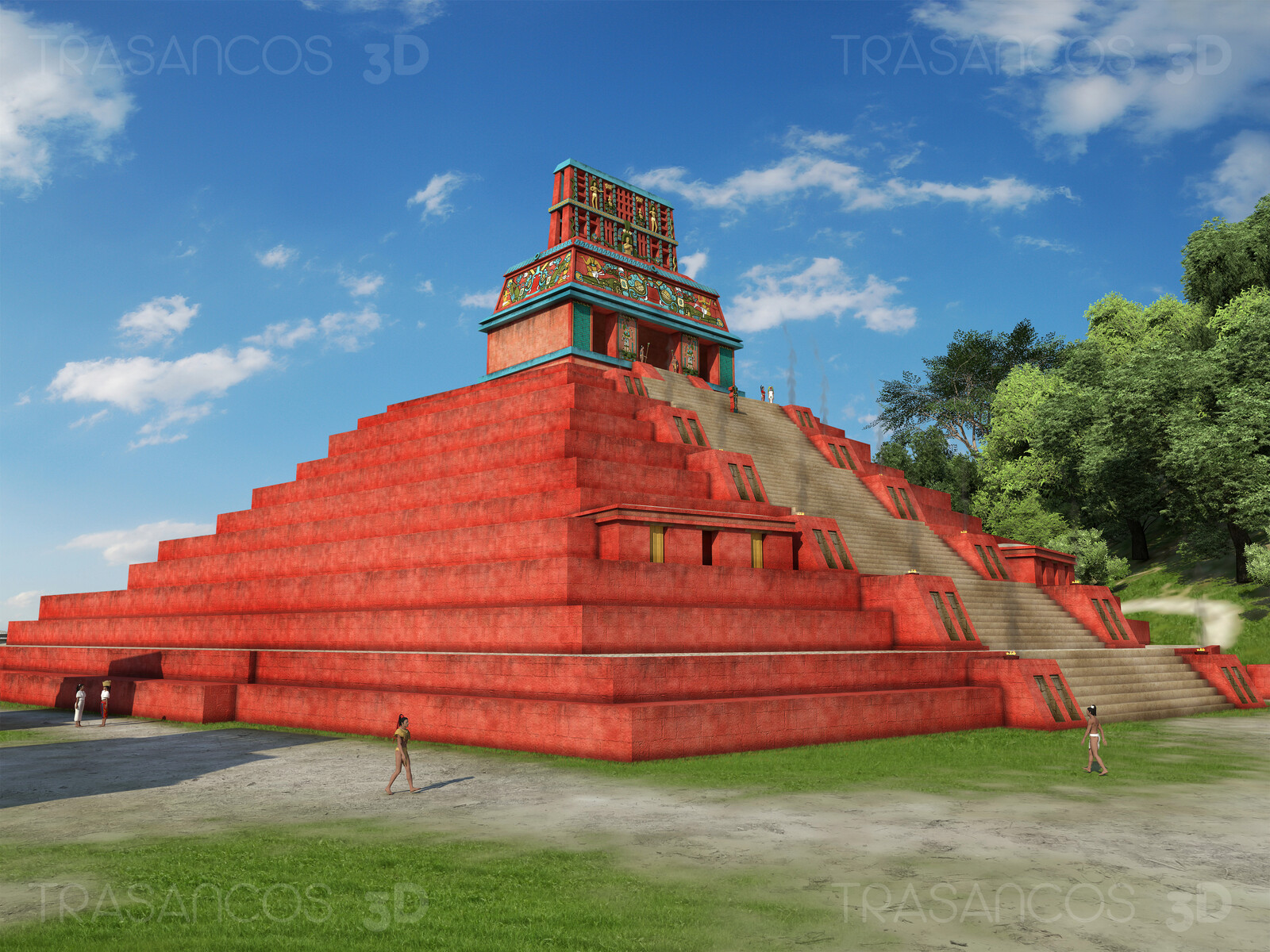 View of the Temple of the Cross in Palenque. Modeled in collaboration with: - Andrés Armesto