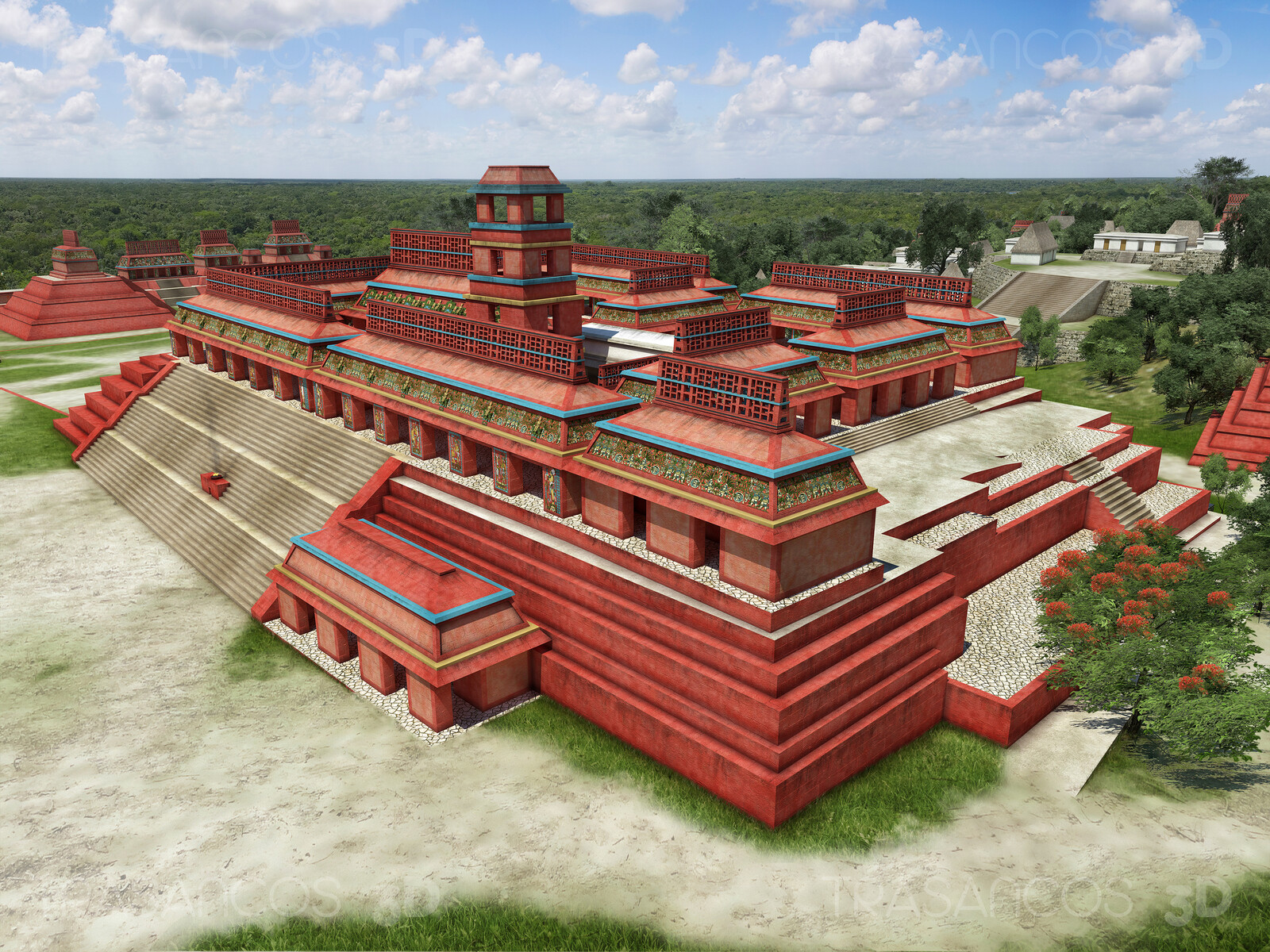 Reconstruction of the Palace of Palenque. Modeled in collaboration with: - Diego Blanco