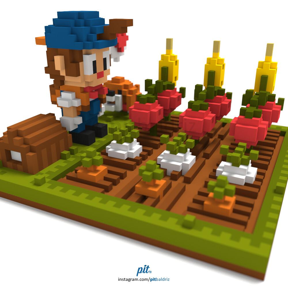 ArtStation - Harvest Moon: Pete´s crops field, Pit Baldriz