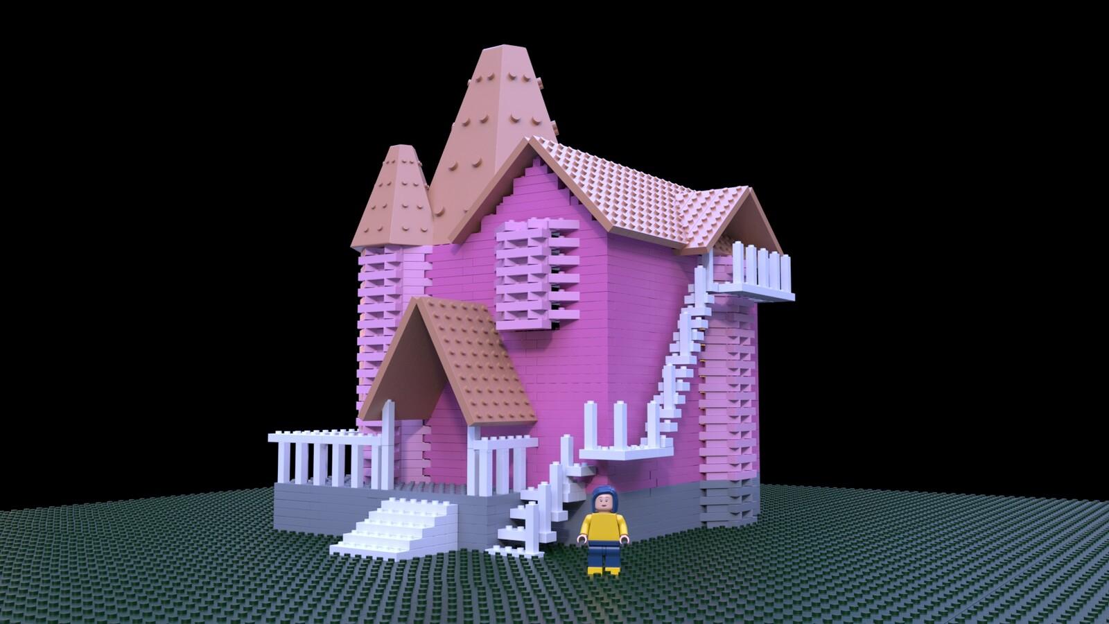 Artstation Coraline Lego Adriana Solano