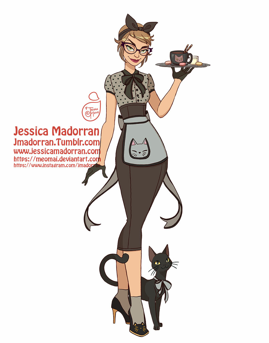 Jessica madorran character design 50s style catwoman 2019 artstation02