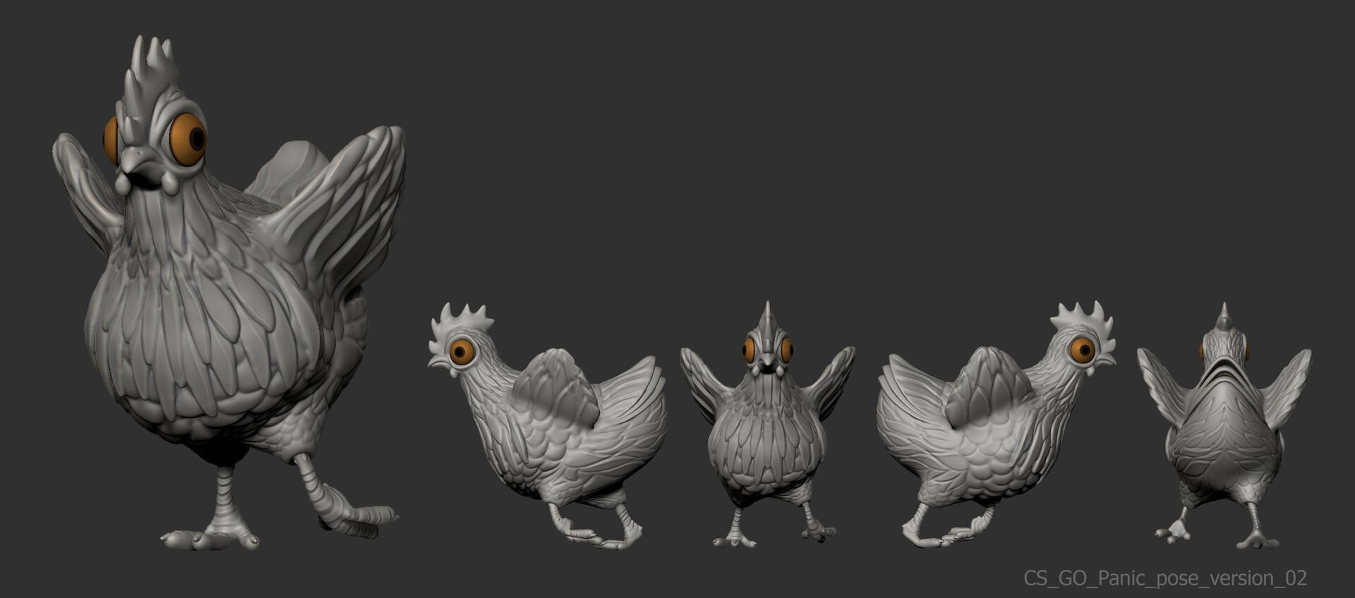 Siserman Oana Alexandra - CSGO Chicken Character FanArt