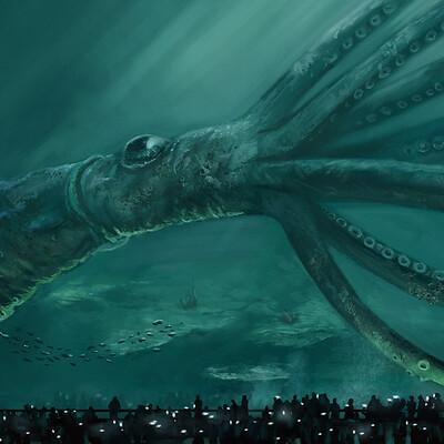 Daniel ang kraken aquarium artstation