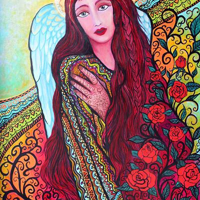 Ann marie cheung ann mariecheung angelamongtheroses acrylic26x38