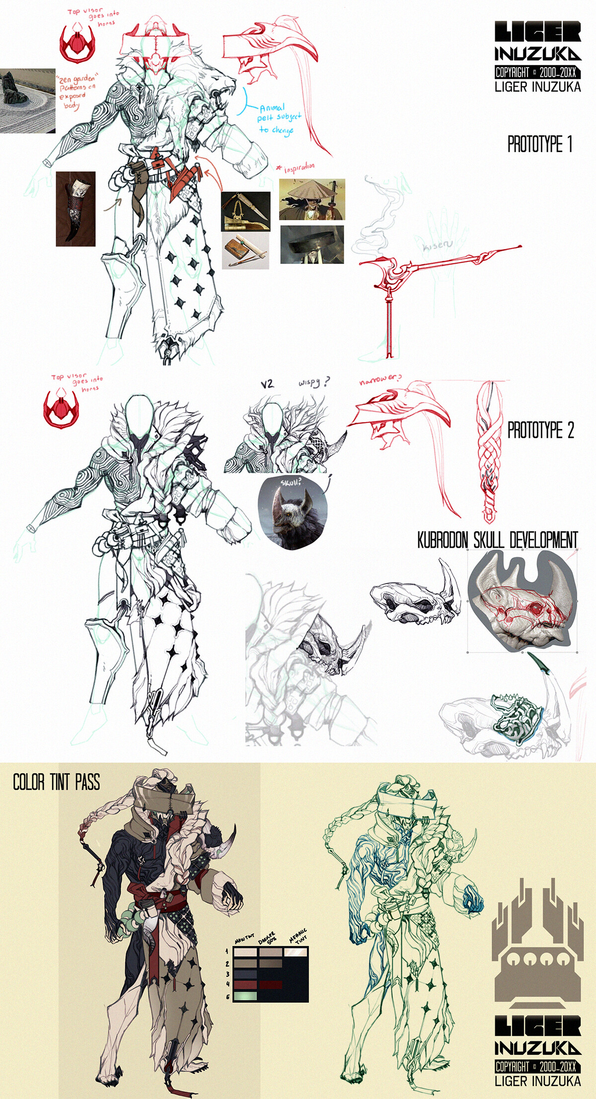 Development Sketches and Concepts