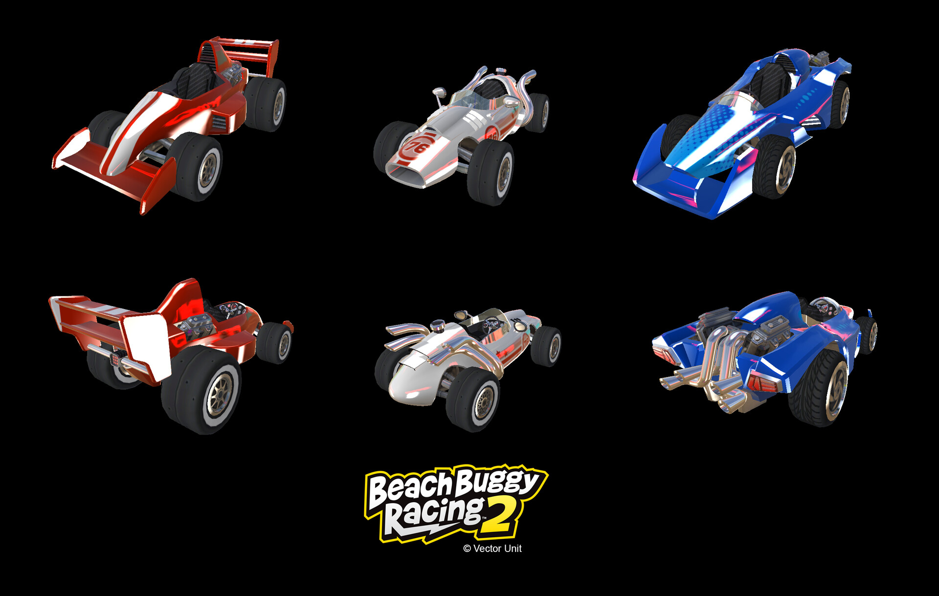 Beach Buggy Racing 2 Vehicles: Formula One Configurations