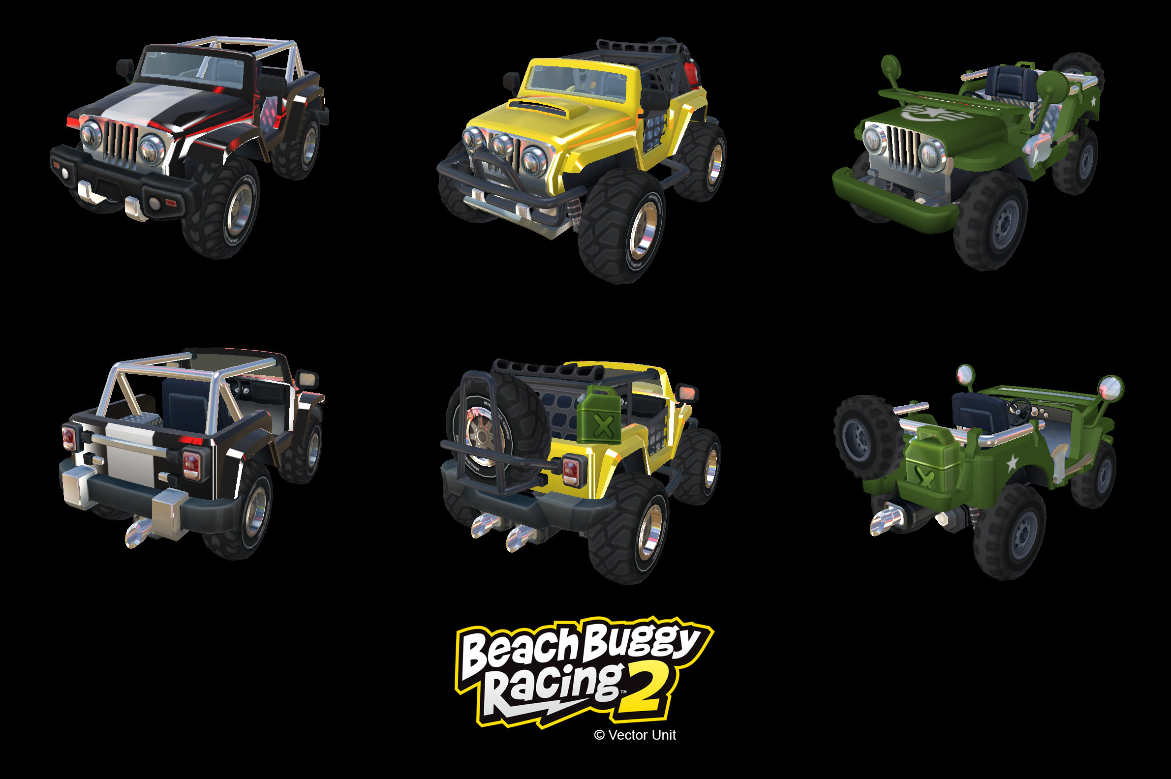 Beach Buggy Racing 2 Vehicles: Military Configurations