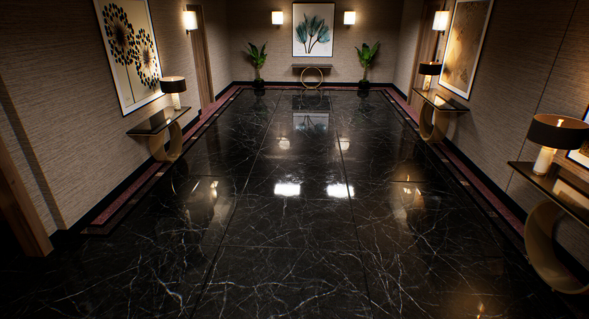 Karim Abou Shousha Black Marble Floor