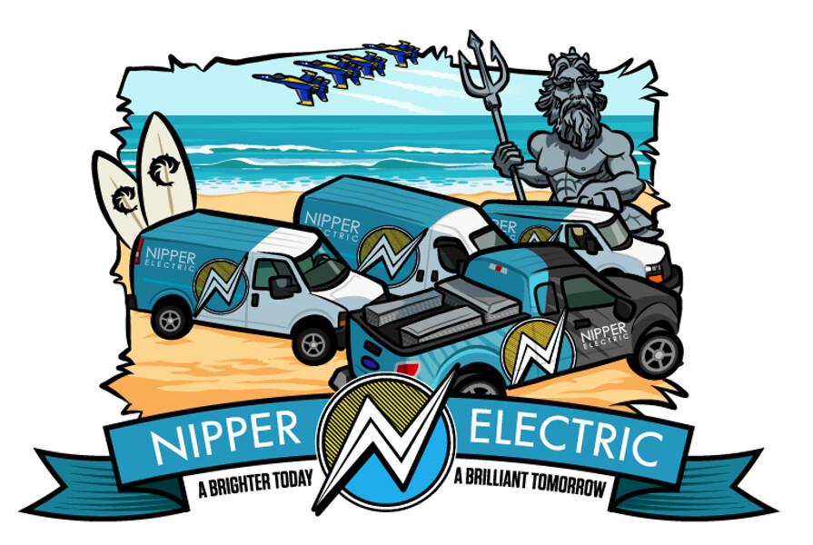 Tee shirt graphic: VA beach version